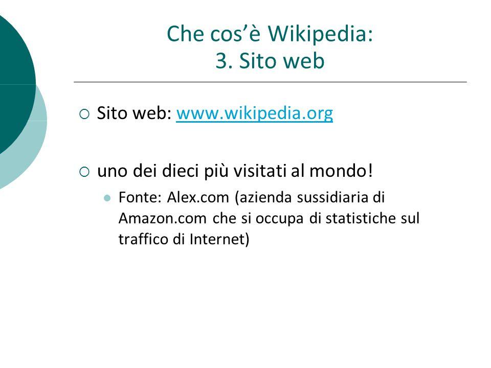 Che cosè Wikipedia: 3.