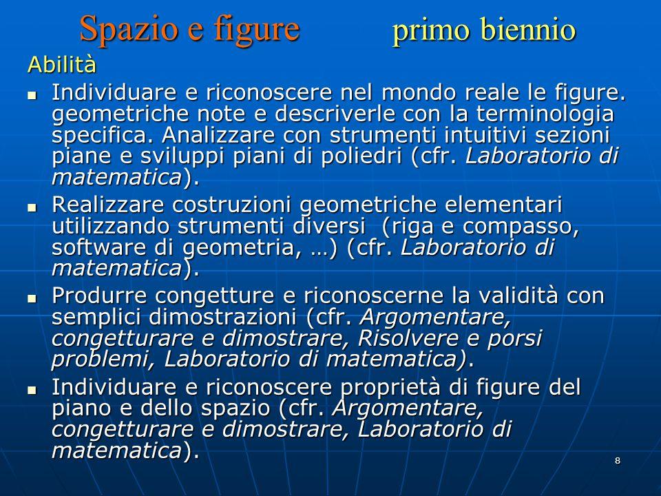 9 Individuare proprietà invarianti per isometrie nel piano (cfr.