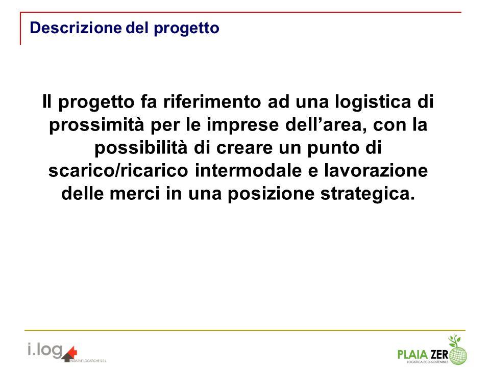 Descrizione del progetto Il progetto fa riferimento ad una logistica di prossimità per le imprese dellarea, con la possibilità di creare un punto di s