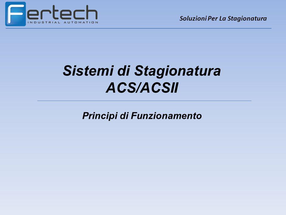 Sistemi di Stagionatura ACS/ACSII Soluzioni Per La Stagionatura Principi di Funzionamento