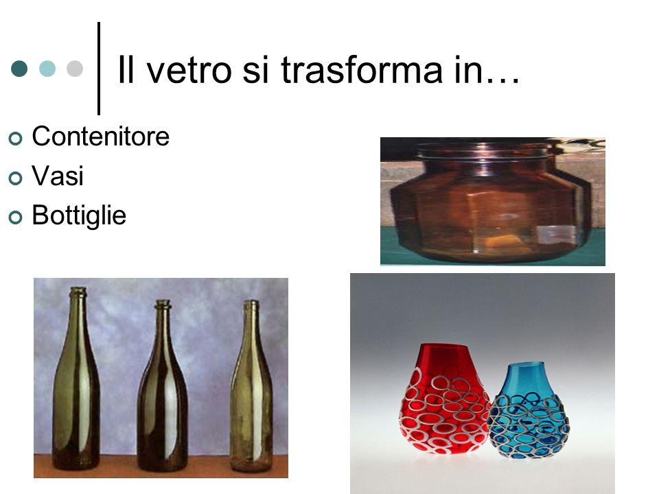 Il vetro si trasforma in… Contenitore Vasi Bottiglie