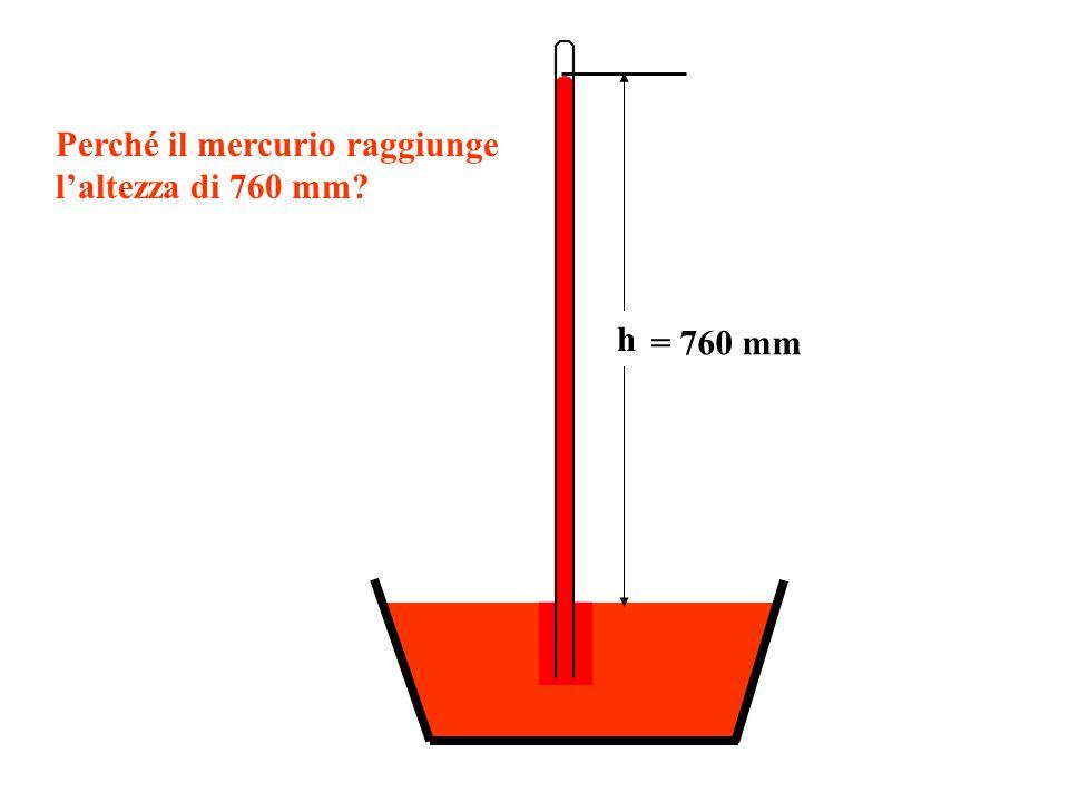 h Perché il mercurio raggiunge laltezza di 760 mm?