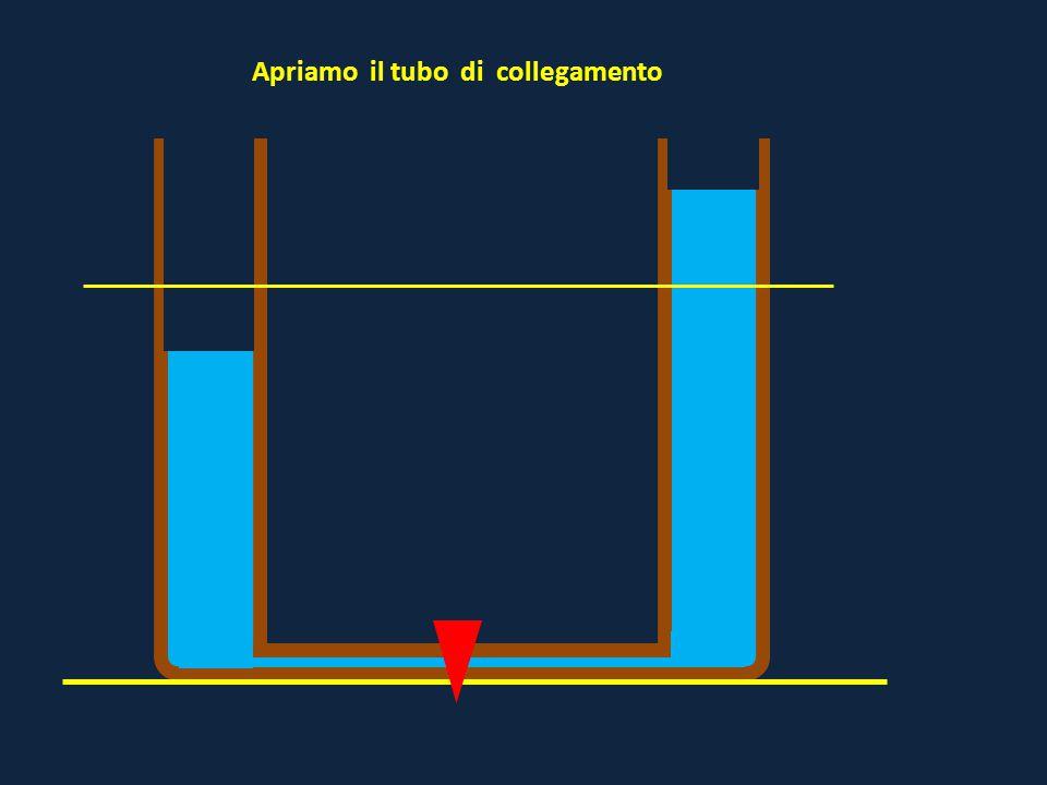 Il recipiente è unico e, a parità di altezza, la pressione è la stessa in tutte le direzioni h P = gdh La differenza di pressione determina il movimento del fluido ( liquido in questo caso)