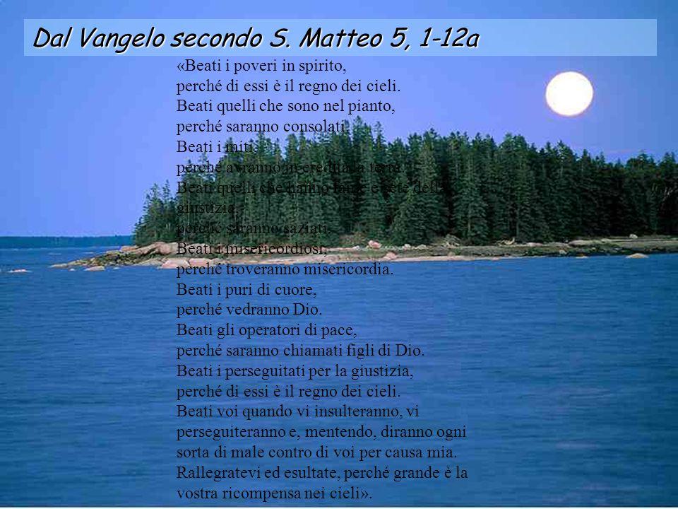 Alleluia Mt 11, 28 Vengano a me, tutti quelli che sono stanchi e oppressi ed io li solleverò, dice il Signore.