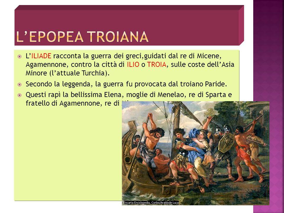 Troia, una città che sorgeva presso la costa asiatica dello stretto dei Dardanelli, danneggiava costantemente gli interessi economici degli Achei. Com