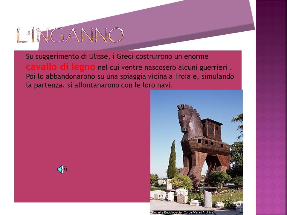 In risposta, i Greci strinsero unalleanza e dichiararono guerra aTroia, così da obbligare i Troiani a riconsegnare Elena al suo sposo. Lassedio di Tro