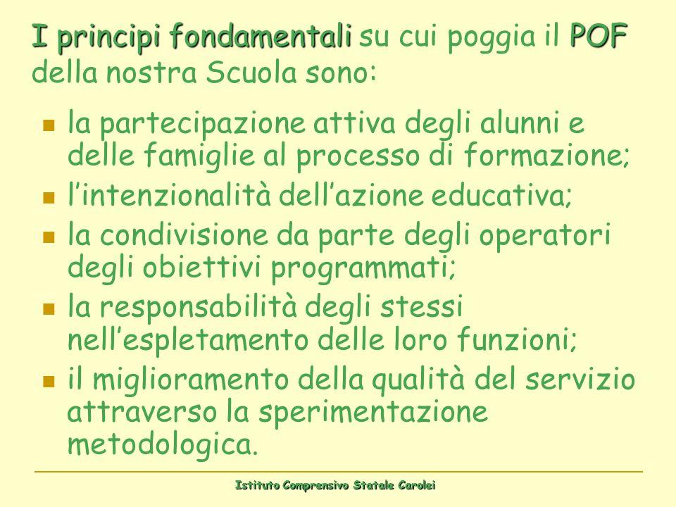 Istituto Comprensivo Statale Carolei la partecipazione attiva degli alunni e delle famiglie al processo di formazione; lintenzionalità dellazione educ