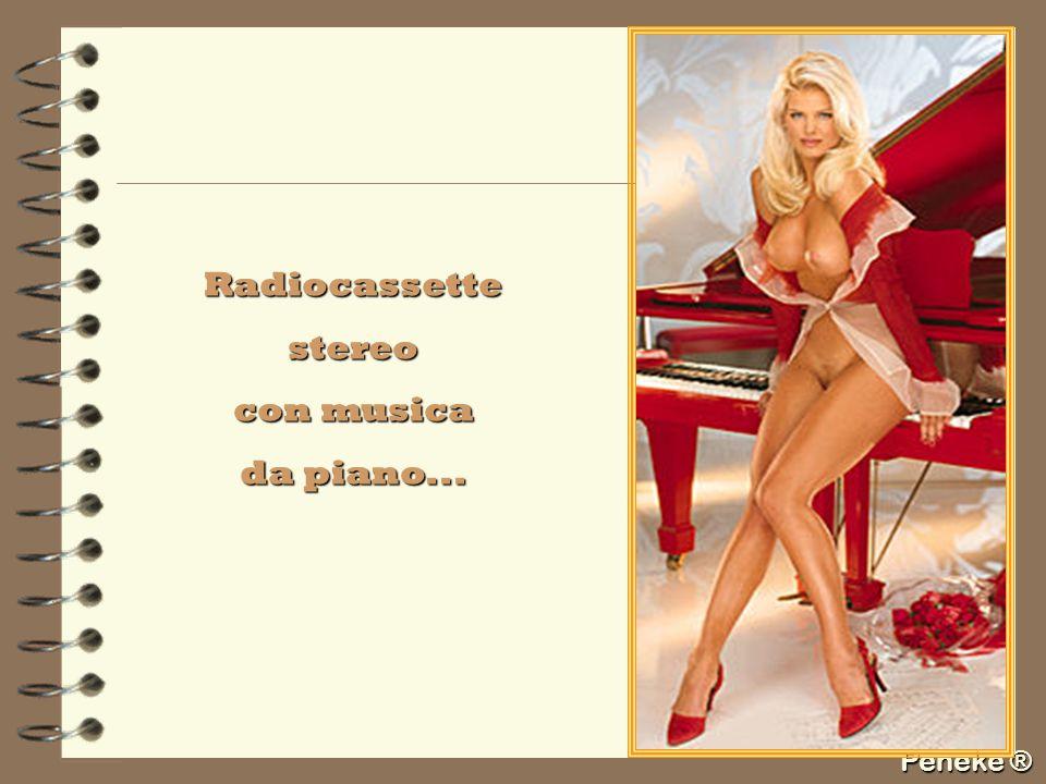 Peneke ® Radiocassettestereo con musica da piano...