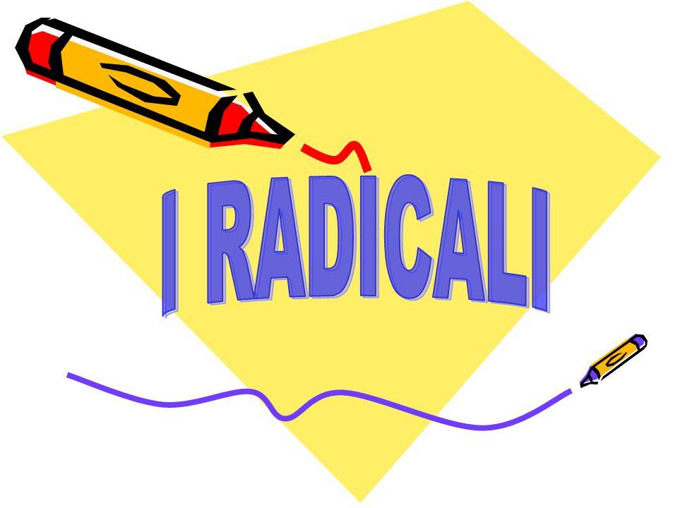 In base a quanto dedotto dagli esempi, possiamo dunque affermare che PRINCIPIO DI EQUIVALENZA Due radicali si dicono equivalenti se ammettono la stessa radice RADICALI EQUIVALENTI