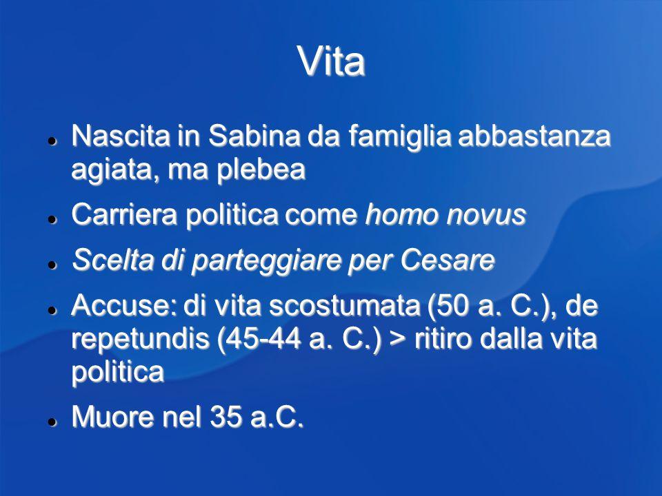 Vita Nascita in Sabina da famiglia abbastanza agiata, ma plebea Nascita in Sabina da famiglia abbastanza agiata, ma plebea Carriera politica come homo