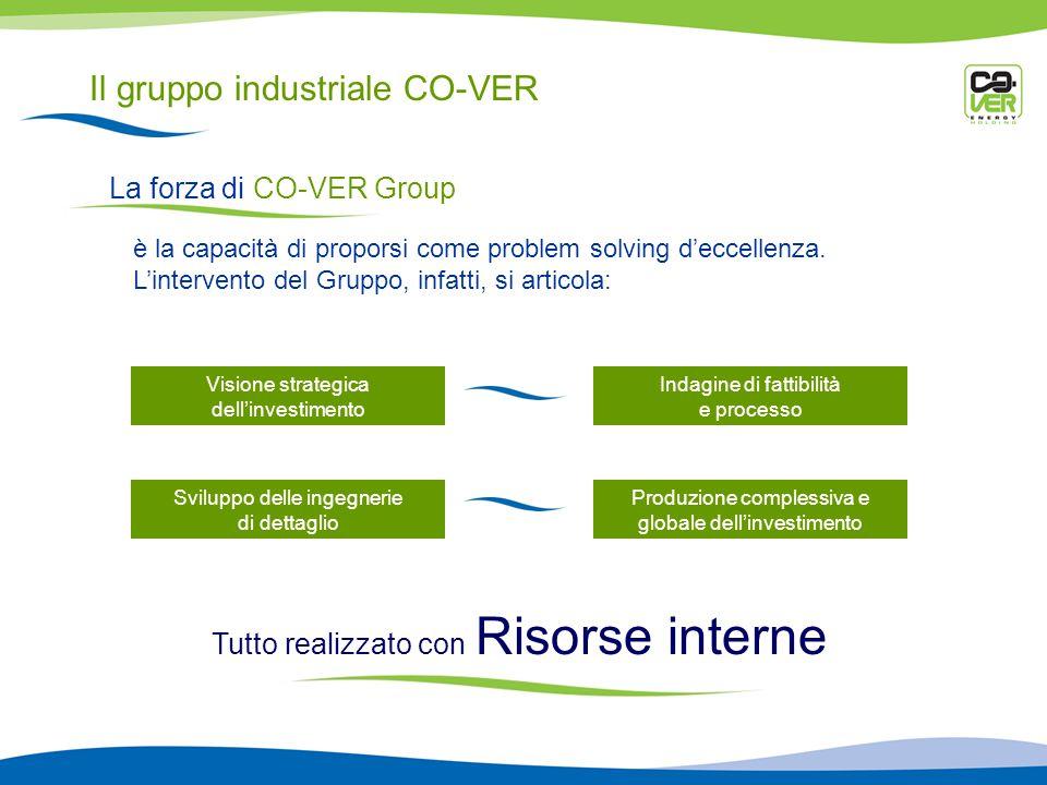Il gruppo industriale CO-VER La forza di CO-VER Group è la capacità di proporsi come problem solving deccellenza.