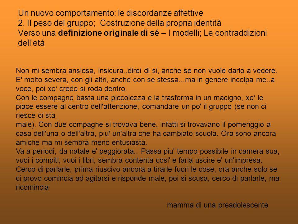Fonte: Rapporto annuale su Abitudini e stili di vita degli adolescenti italiani Societa Italiana di Pediatria Novembre 2007 Campione: 1251 ragazzi e ragazze Eta: 12-14 anni MODELLI
