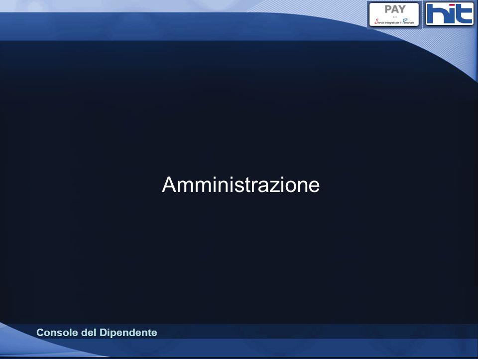 Console del Dipendente Amministrazione