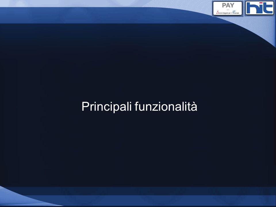 Principali funzionalità