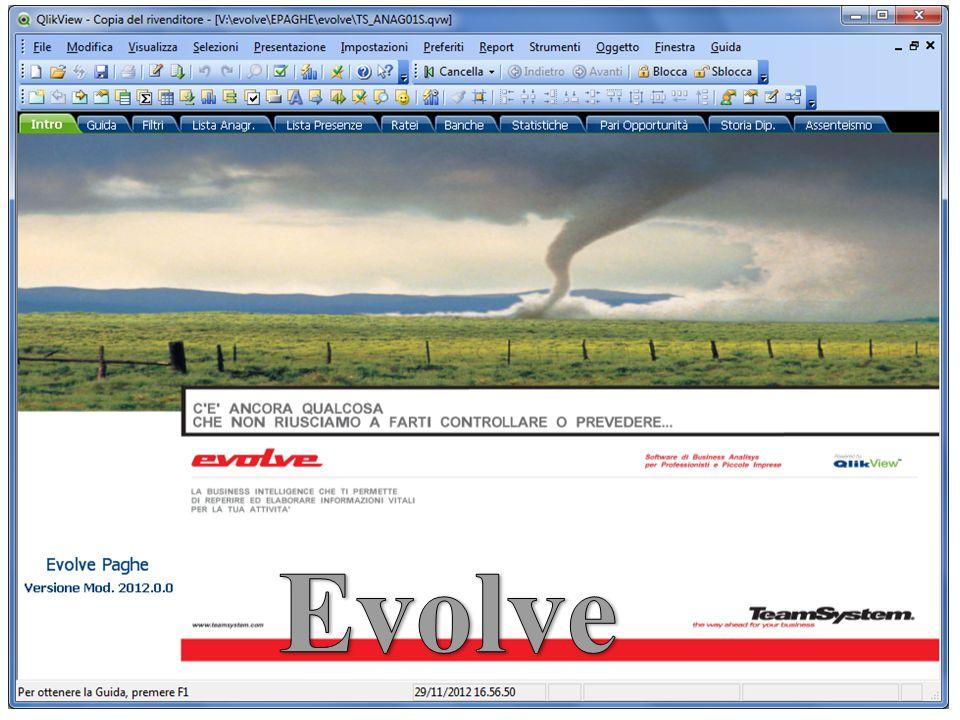 Il software EVOLVE consente un veloce accesso, visualizzazione ed estrazione dei dati contenuti nel data base dellAmministrazione del Personale.