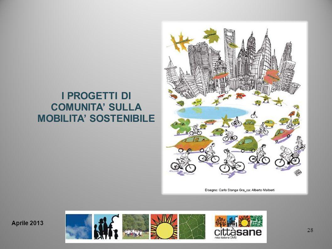 28 I PROGETTI DI COMUNITA SULLA MOBILITA SOSTENIBILE Aprile 2013