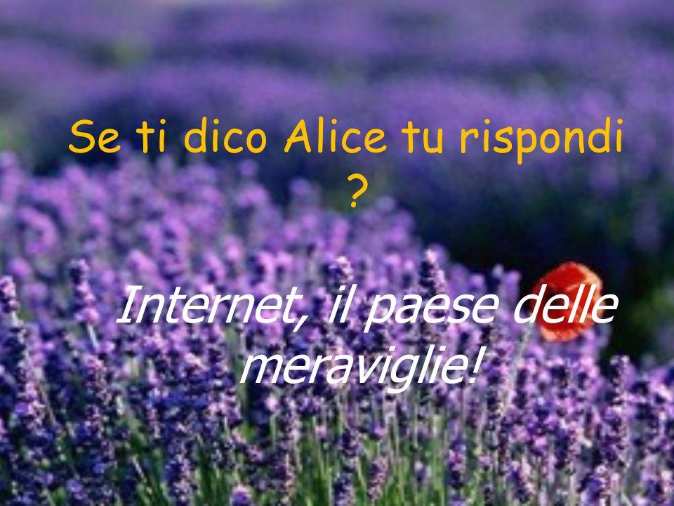Se ti dico Alice tu rispondi ? Internet, il paese delle meraviglie!