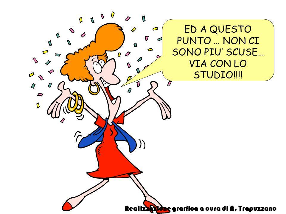 ED A QUESTO PUNTO … NON CI SONO PIU SCUSE… VIA CON LO STUDIO!!!! Realizzazione grarfica a cura di A. Trapuzzano
