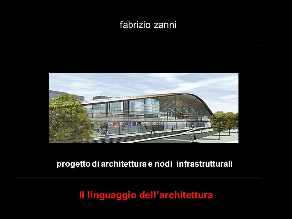 progetto di architettura e nodi infrastrutturali fabrizio zanni Il linguaggio dellarchitettura