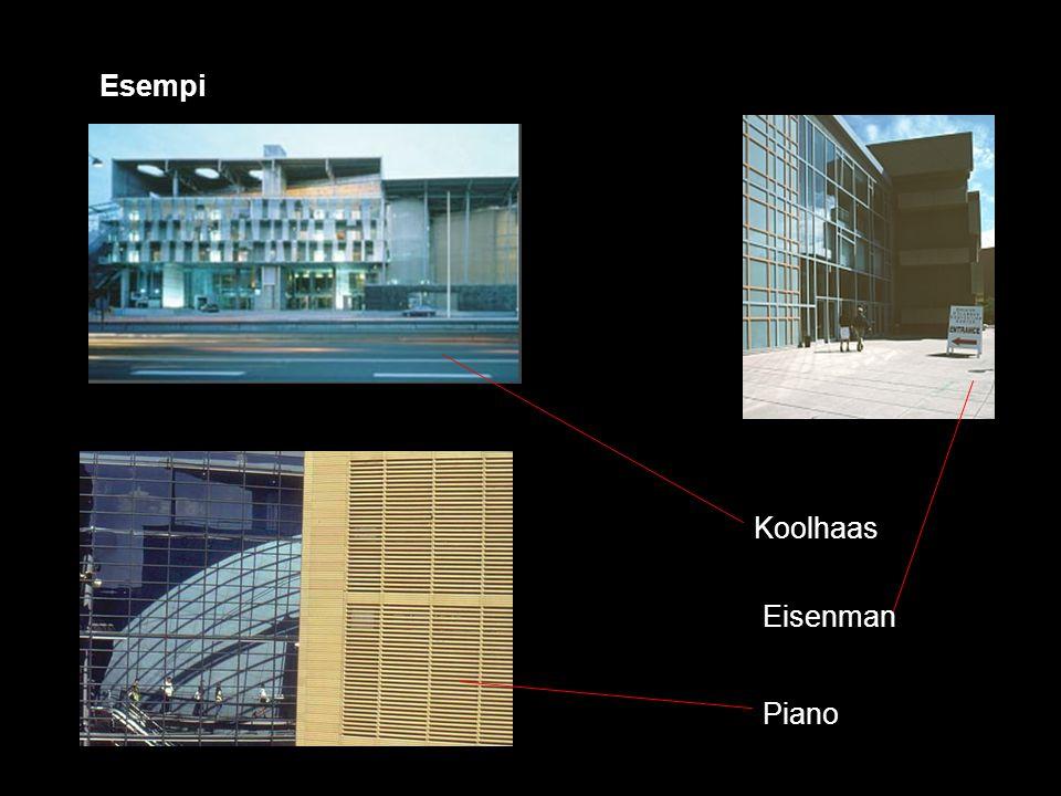 Esempi Koolhaas Piano Eisenman