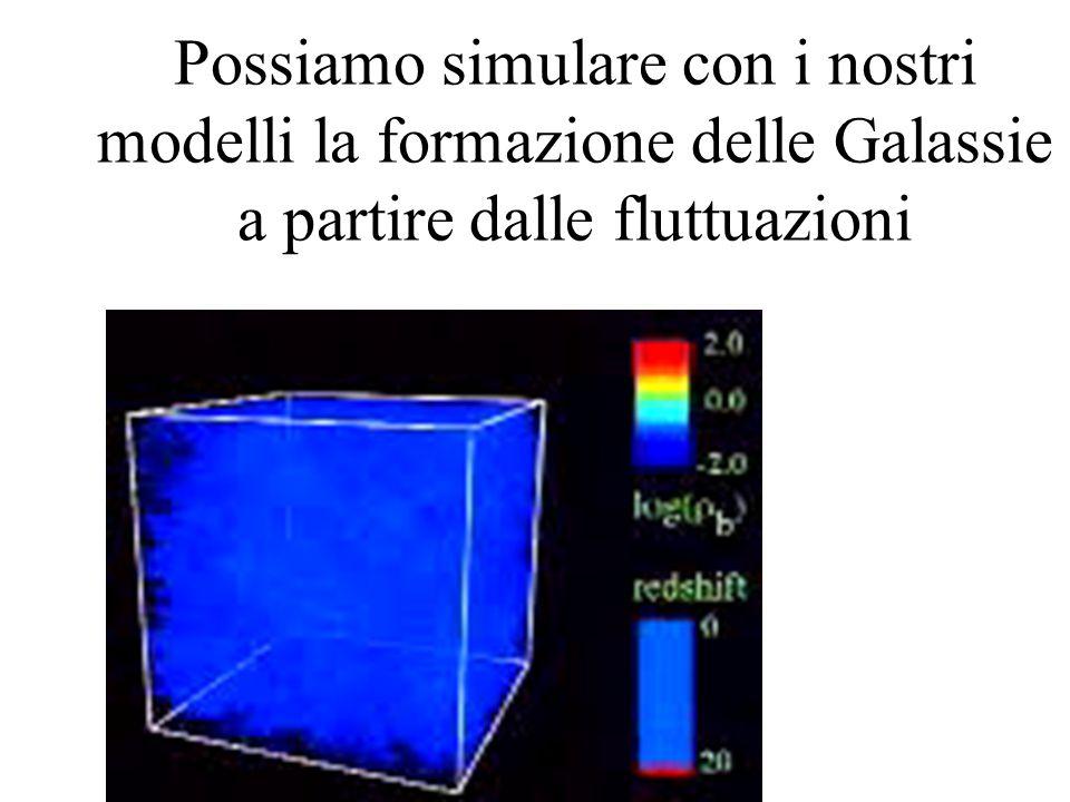 Possiamo simulare con i nostri modelli la formazione delle Galassie a partire dalle fluttuazioni