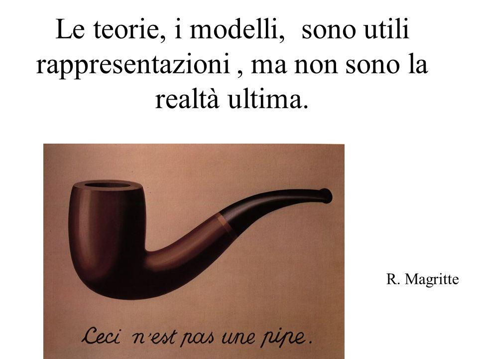 Le teorie, i modelli, sono utili rappresentazioni, ma non sono la realtà ultima.