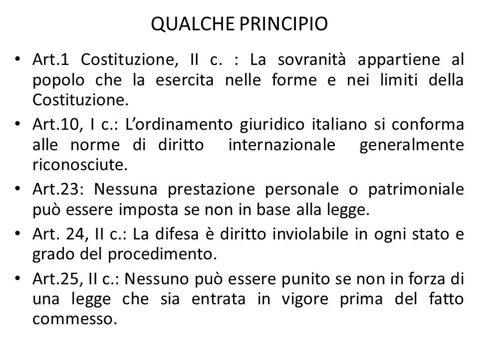 QUALCHE PRINCIPIO Art.1 Costituzione, II c.
