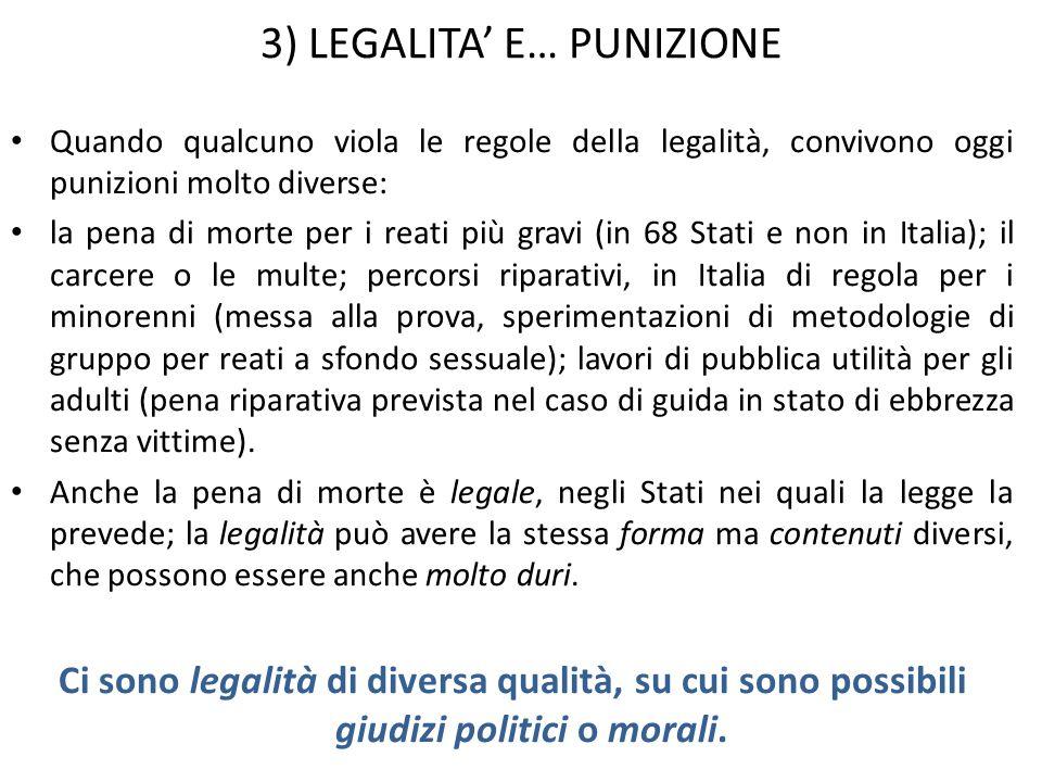 4) LEGALITA E… SOSTENIBILITA Come ha dimostrato lILVA di Taranto (una per tutte) lindustria può danneggiare lambiente e la popolazione.