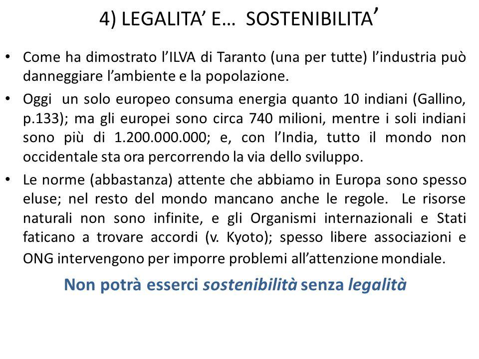5) LEGALITA E… DEMOCRAZIA In Italia viviamo una crisi di passaggio da un modello parlamentare a un modello più presidenziale: le diverse forme di governo corrispondono infatti a diverse opzioni: le repubbliche presidenziali privilegiano limportanza della decisione rapida, quelle parlamentari (come la nostra) privilegiano la ricerca di ampi consensi preventivi su ogni scelta.