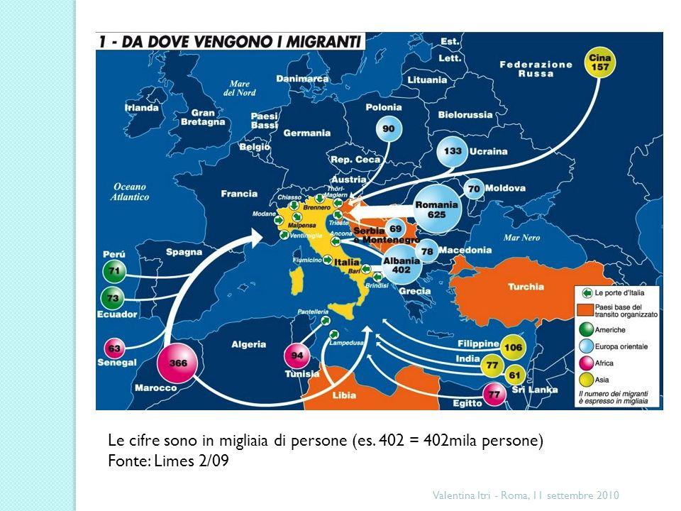 Valentina Itri - Roma, 11 settembre 2010 Non ci sarebbe un confine senza qualcuno che lo attraversa ripetutamente.