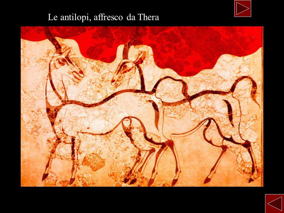 Le antilopi, affresco da Thera
