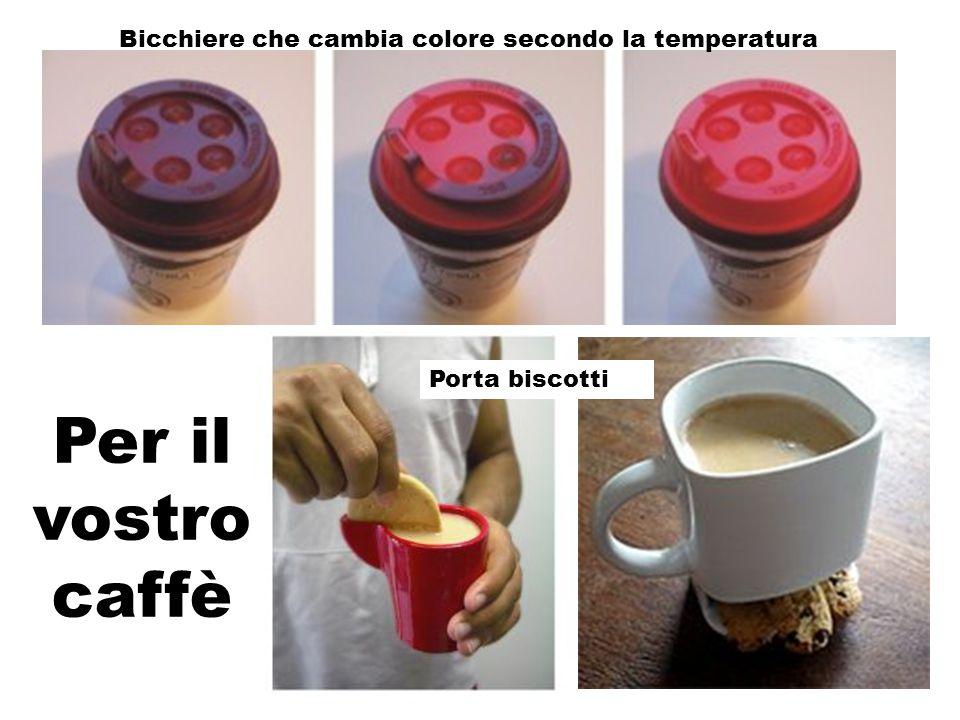Per il vostro caffè Bicchiere che cambia colore secondo la temperatura Porta biscotti