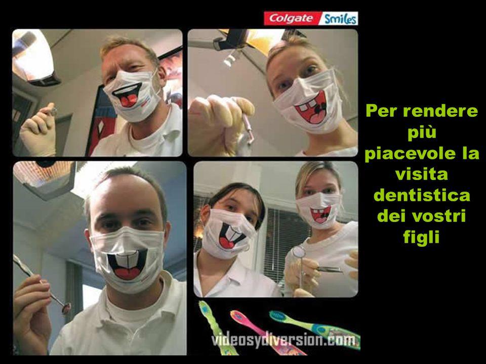 Per rendere più piacevole la visita dentistica dei vostri figli