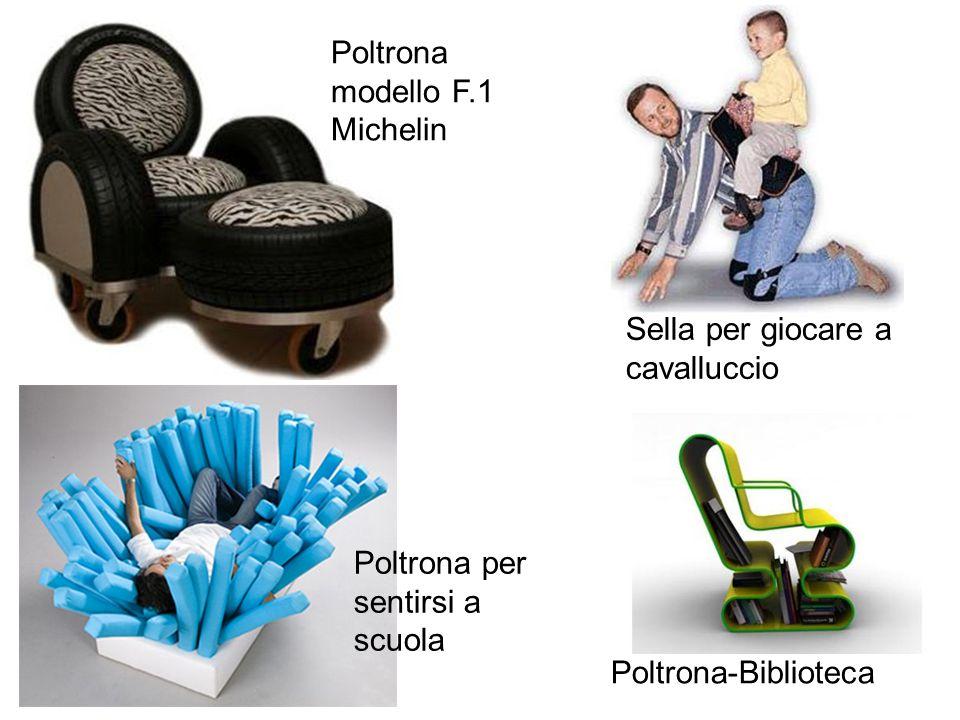 Sella per giocare a cavalluccio Poltrona-Biblioteca Poltrona modello F.1 Michelin Poltrona per sentirsi a scuola