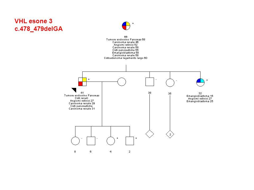VHL esone 3 c.478_479delGA