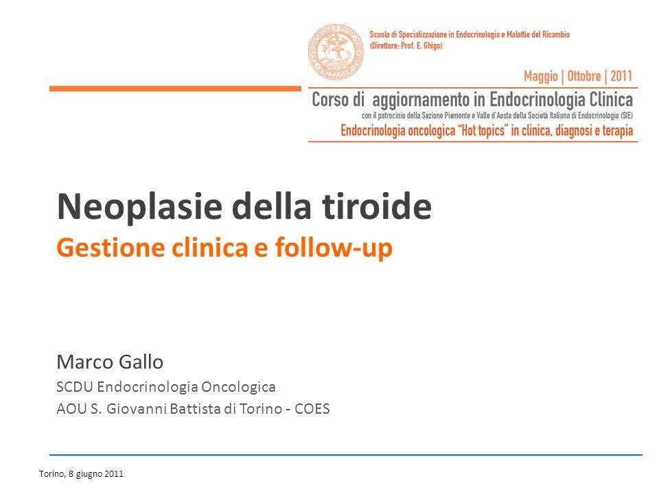 Classificazione clinico-prognostica del pz con carcinoma tiroideo differenziato Alto rischio Basso rischio T3/4M1 età 45 a.