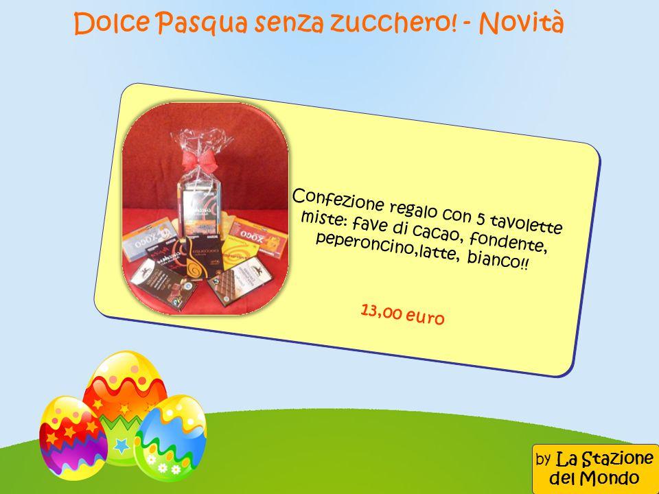 Confezione regalo con 5 tavolette miste: fave di cacao, fondente, peperoncino,latte, bianco!! 13,00 euro Dolce Pasqua senza zucchero! - Novità