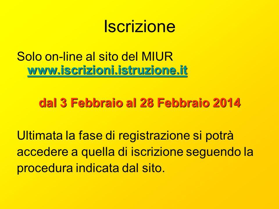 Iscrizione www.iscrizioni.istruzione.it www.iscrizioni.istruzione.it Solo on-line al sito del MIUR www.iscrizioni.istruzione.it www.iscrizioni.istruzi
