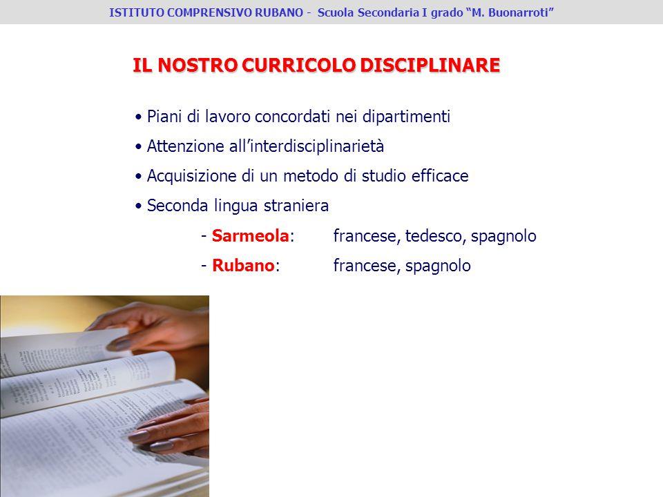 Piani di lavoro concordati nei dipartimenti Attenzione allinterdisciplinarietà Acquisizione di un metodo di studio efficace Seconda lingua straniera -