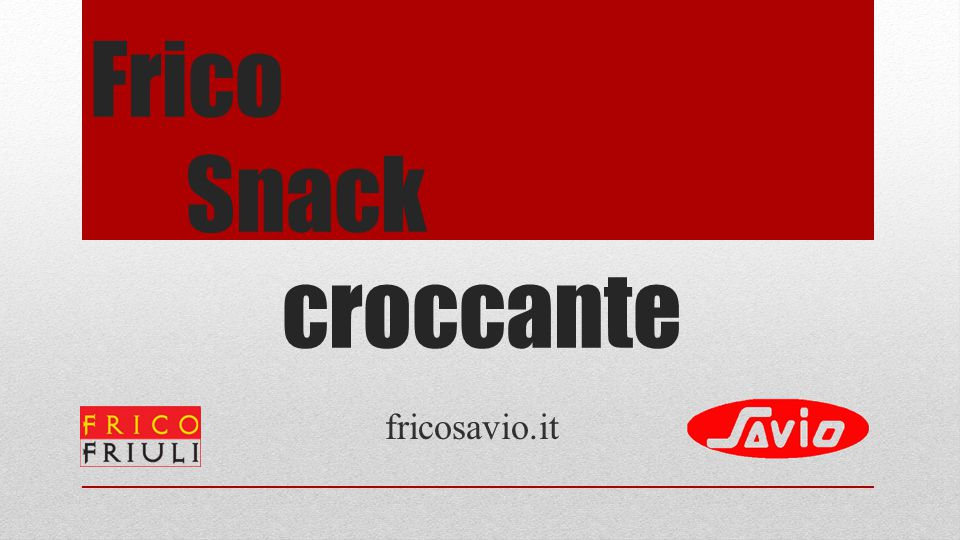 Frico Snack croccante fricosavio.it
