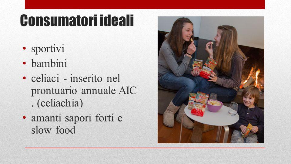 Consumatori ideali sportivi bambini celiaci - inserito nel prontuario annuale AIC.