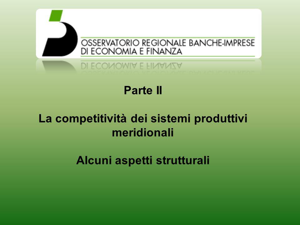 Parte II La competitività dei sistemi produttivi meridionali Alcuni aspetti strutturali