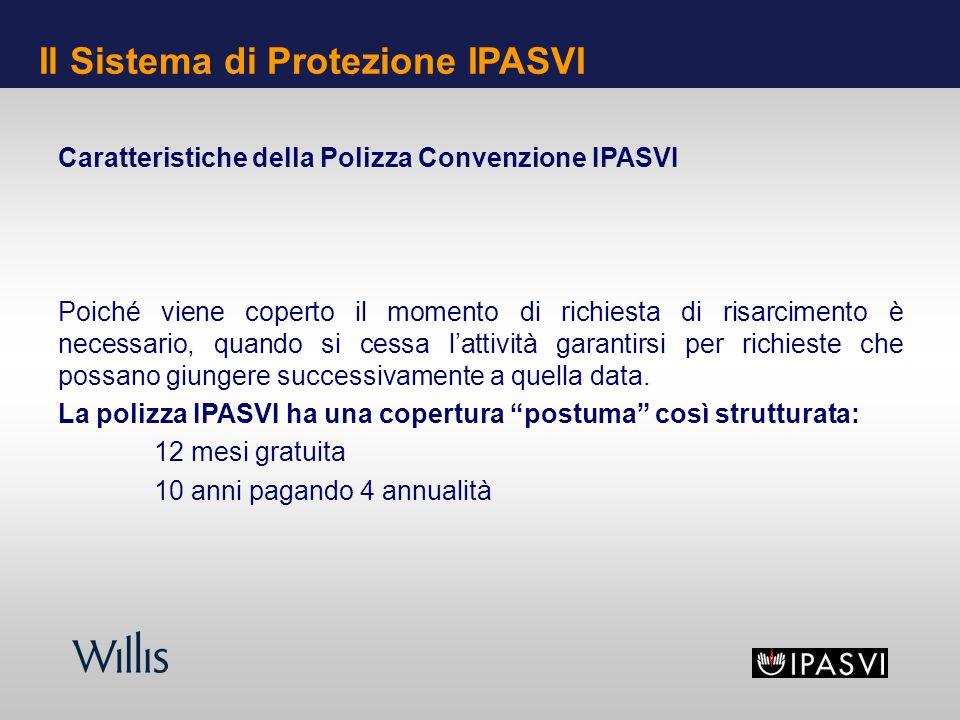 Caratteristiche della Polizza Convenzione IPASVI Poiché viene coperto il momento di richiesta di risarcimento è necessario, quando si cessa lattività garantirsi per richieste che possano giungere successivamente a quella data.