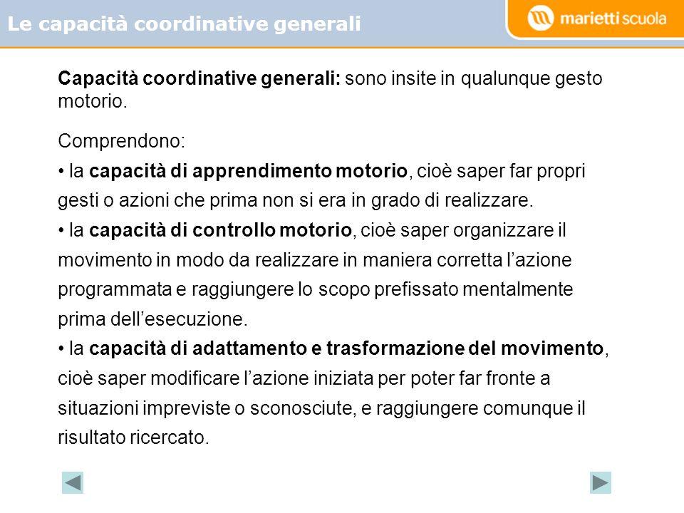 Le capacità coordinative generali