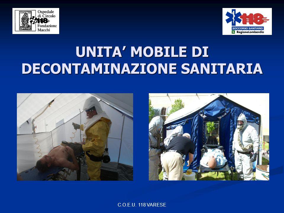 C.O.E.U. 118 VARESE UNIDEP 118 VARESE unità di decontaminazione provinciale