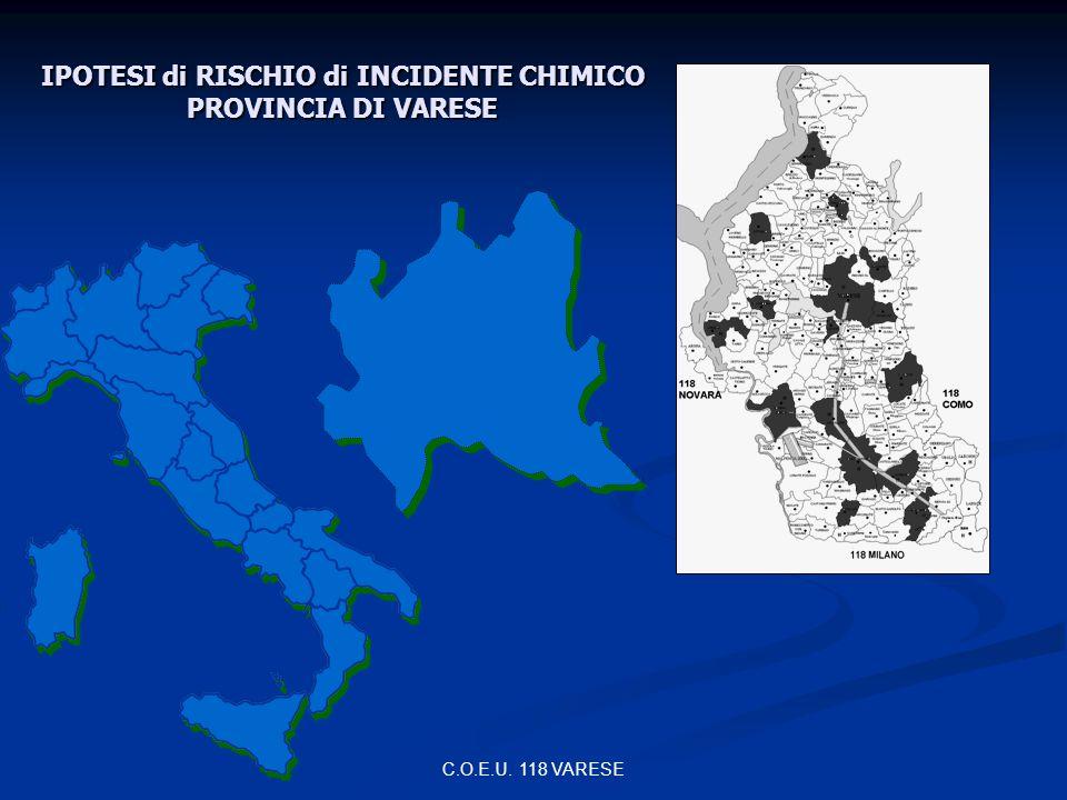 C.O.E.U. 118 VARESE IPOTESI di RISCHIO di INCIDENTE CHIMICO PROVINCIA DI VARESE