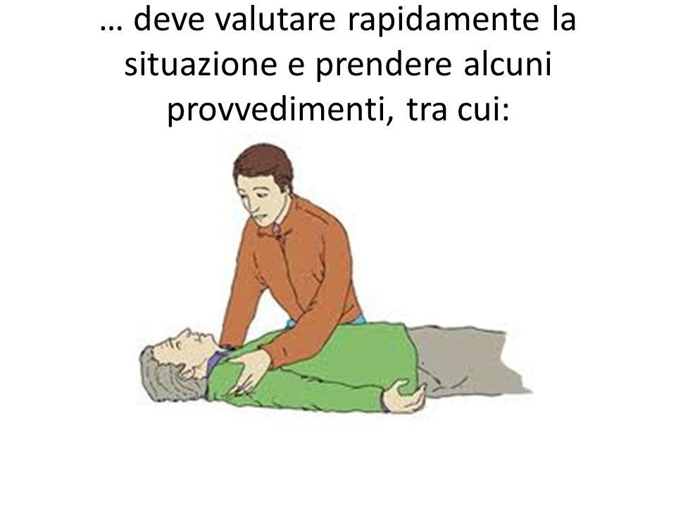 Valutazione della stato del ferito Valutazione dello stato di coscienza Valutazione dellattività respiratoria Valutazione dellattività cardiocircolatoria