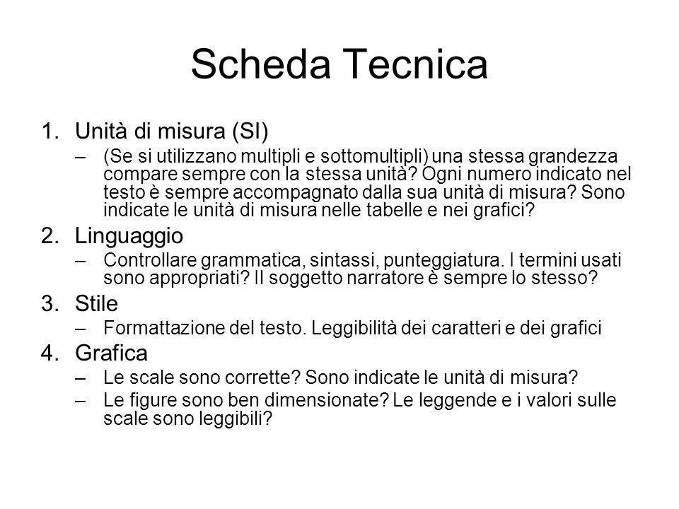 Scheda Scientifica 1.Organizzazione della tesina –Segue lo schema previsto.
