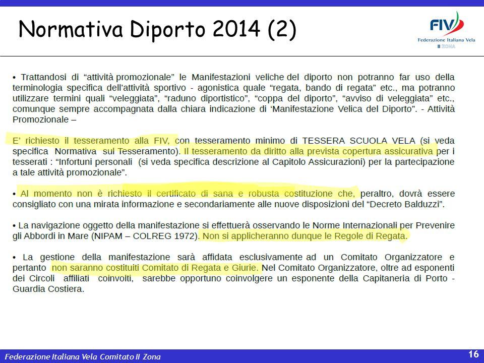 Federazione Italiana Vela Comitato II Zona 16 Normativa Diporto 2014 (2)