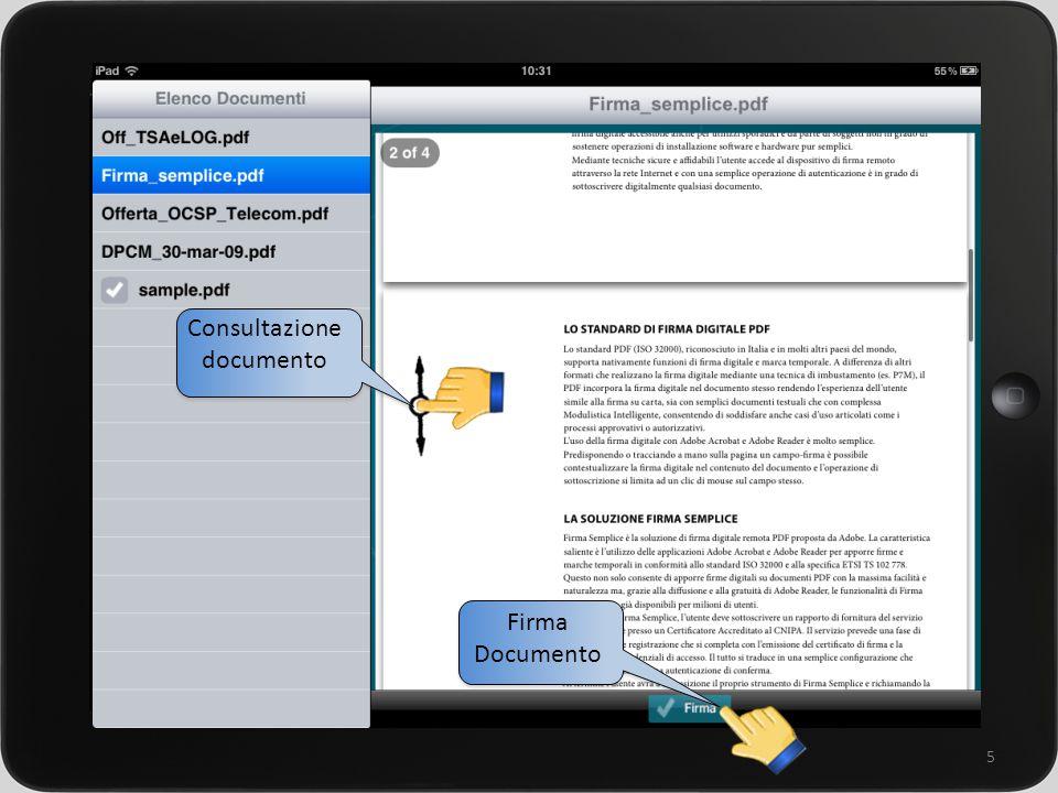 un sistema integrato per la gestione della rete commerciale 5 Consultazione documento Firma Documento